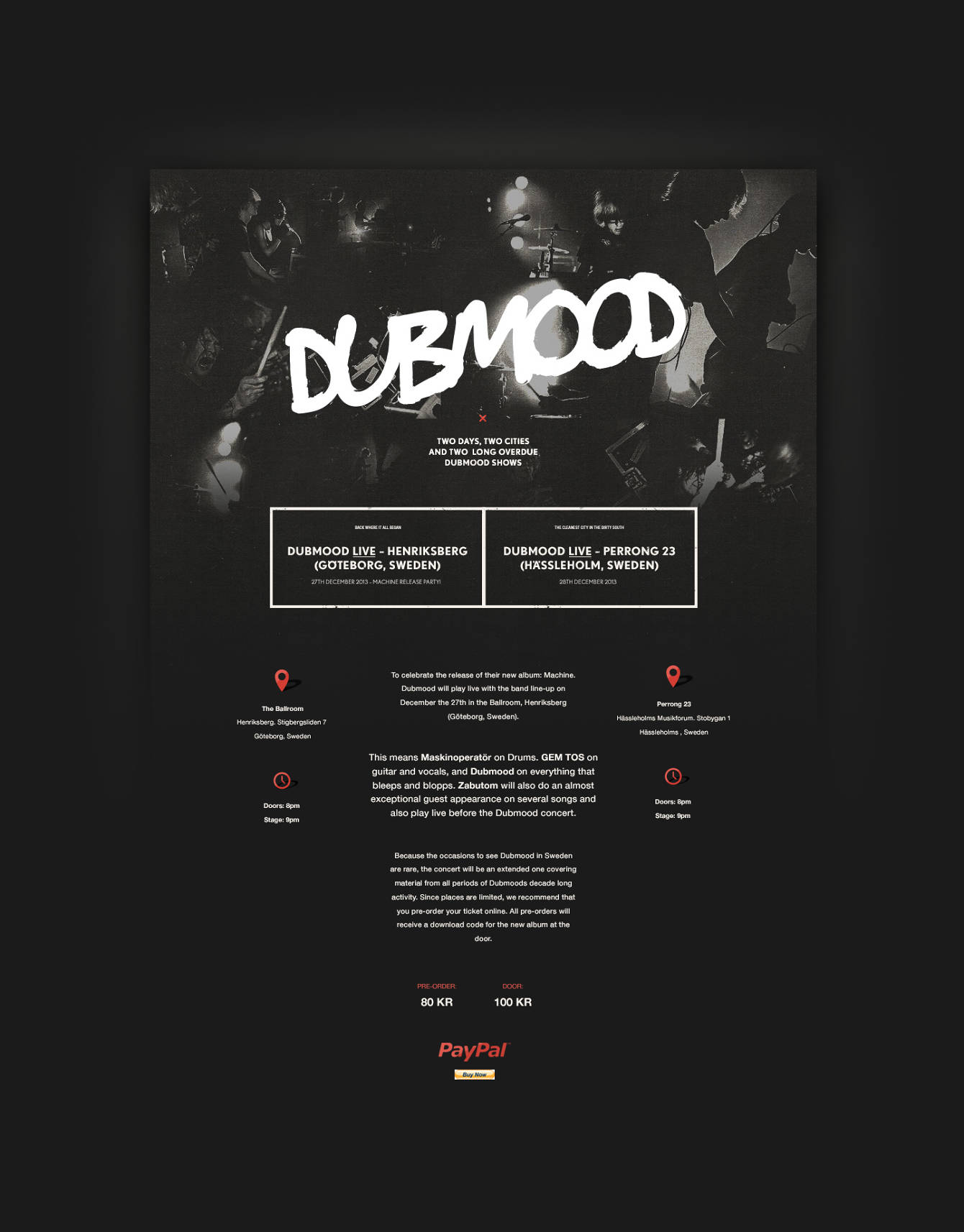 Dubmood — Live in Sweden